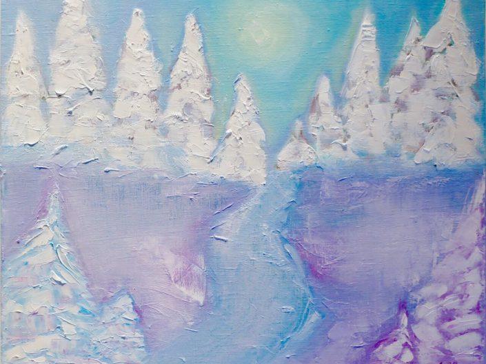 Winter. Surrealism